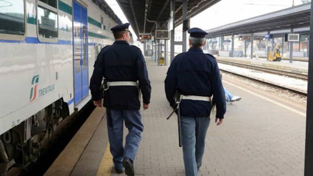 Borseggiatori Algerini in azione sul treno Intercity Bari-Roma, la Polizia li arresta a Foggia