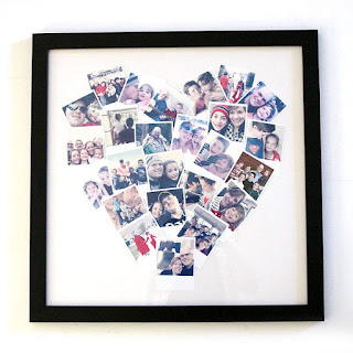 diy tutorial heart shaped photo display mothers day