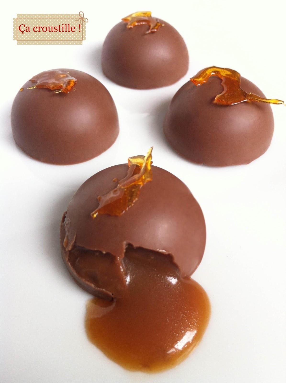 Ca Croustille Petits Chocolats Coeur Caramel Au Beurre Sale