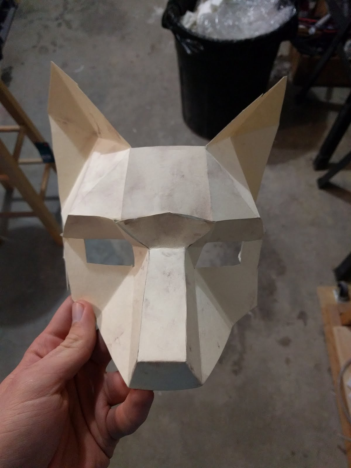 The Basis For Mask Was Wintercrofts Fox Half Is Perfect Masquerade Use And I Thought Papercraft Low Poly Look Would