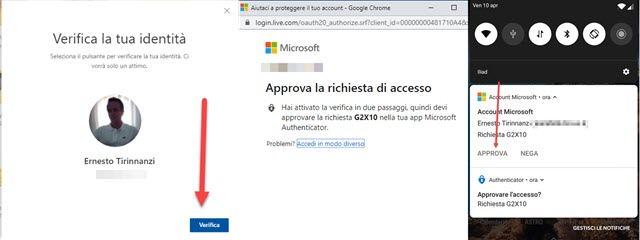 verifica account microsoft authenticator