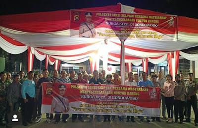 Dalam Rangka Memperingati Hari Ibu Ke-91, Kapolresta Bersama Masyarakat Jambi Nobar Film Surga Kecil Di Bondowoso Dipolsek Jambi Selatan