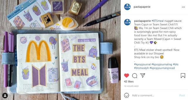BTS meal journaling