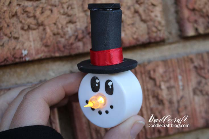 Snowman Tea Lights! This Is The Cutest Little Craft For A Tween Or Teen!