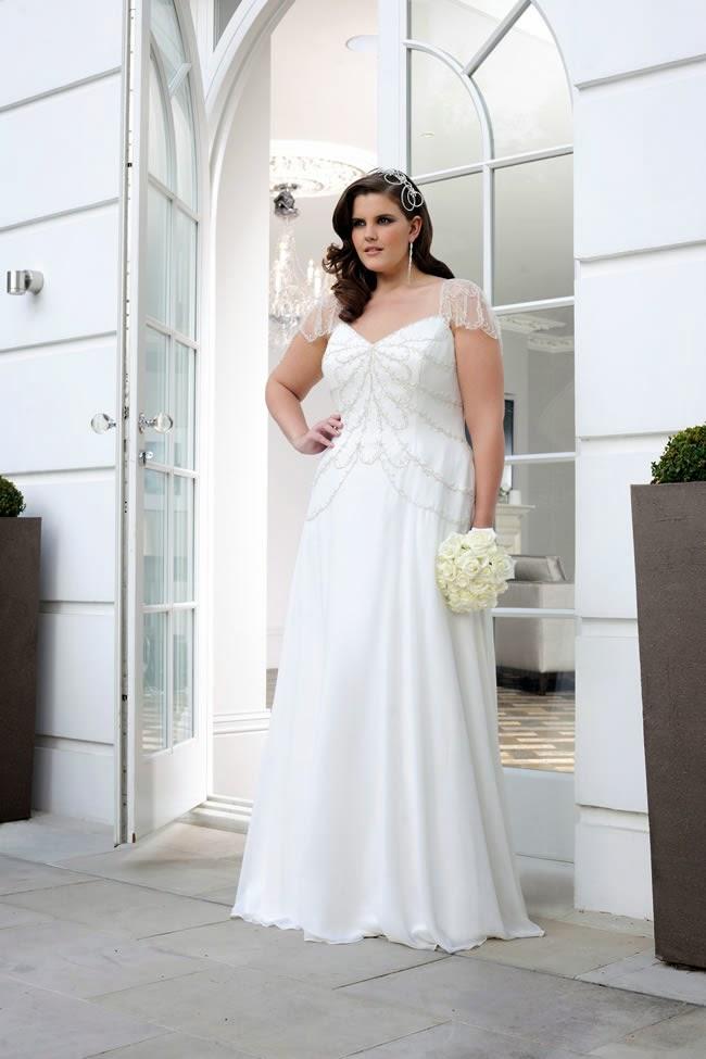 Vestidos para boda al civil para gorditas