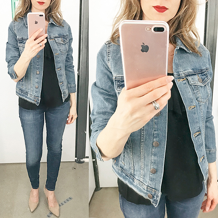 fashion blogger, denim jacket, old navy, spring jacket