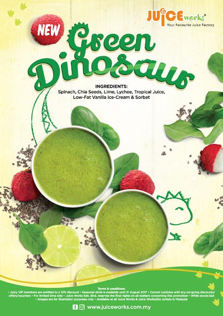 Green Dinosaur Dari Juice Works Untuk Mereka Yang Tak Suka Sayur!