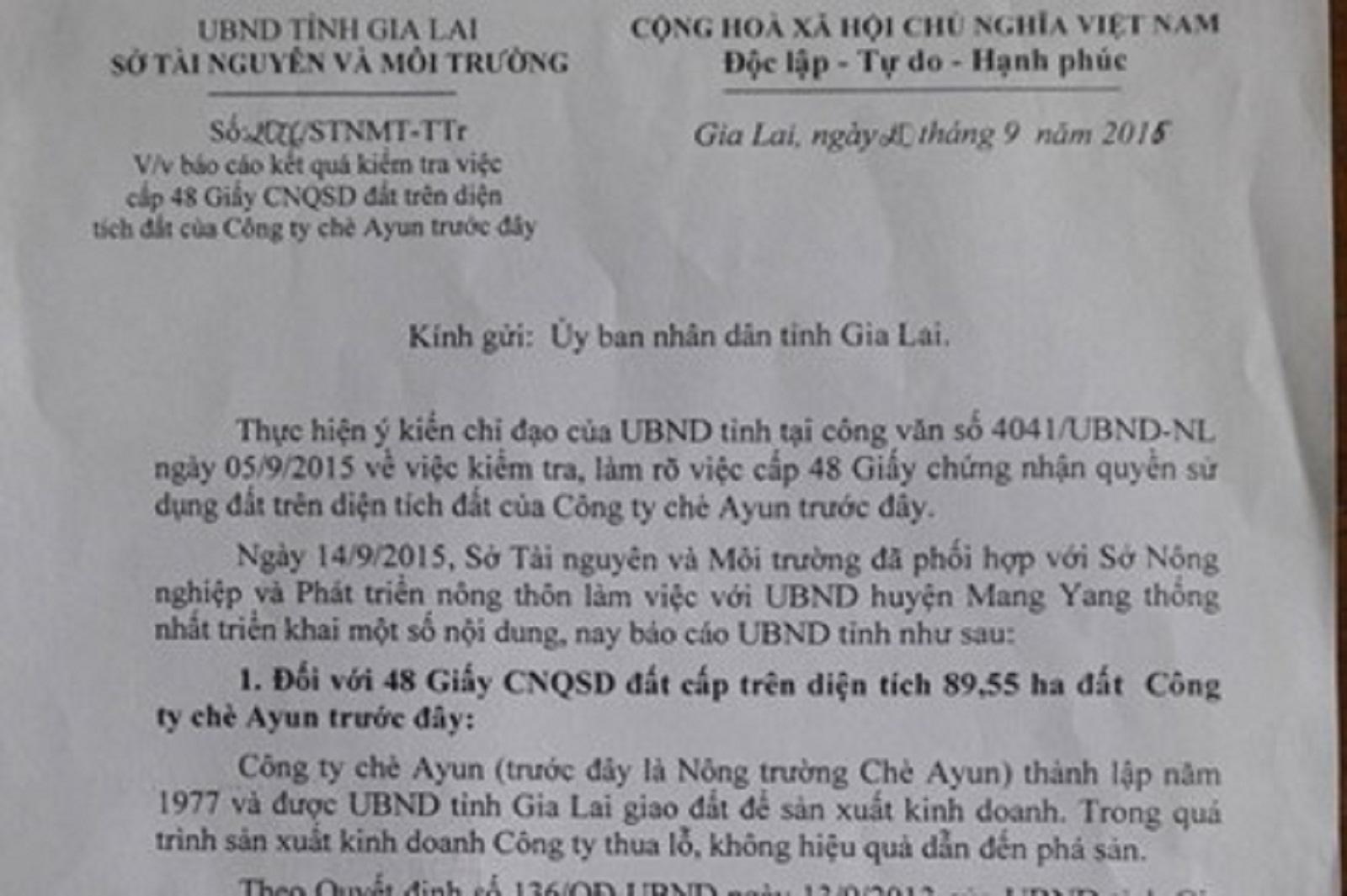 Gia Lai: Chủ tịch huyện cấp phép sai thẩm quyền 146ha đất