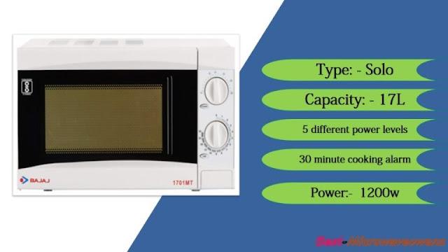 Bajaj 1701 MT / best microwave oven