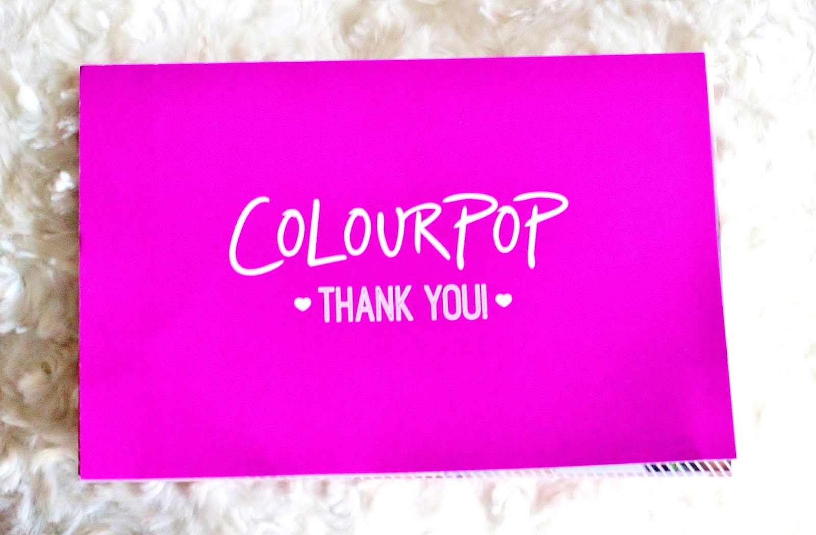 colour pop haul to the UK!