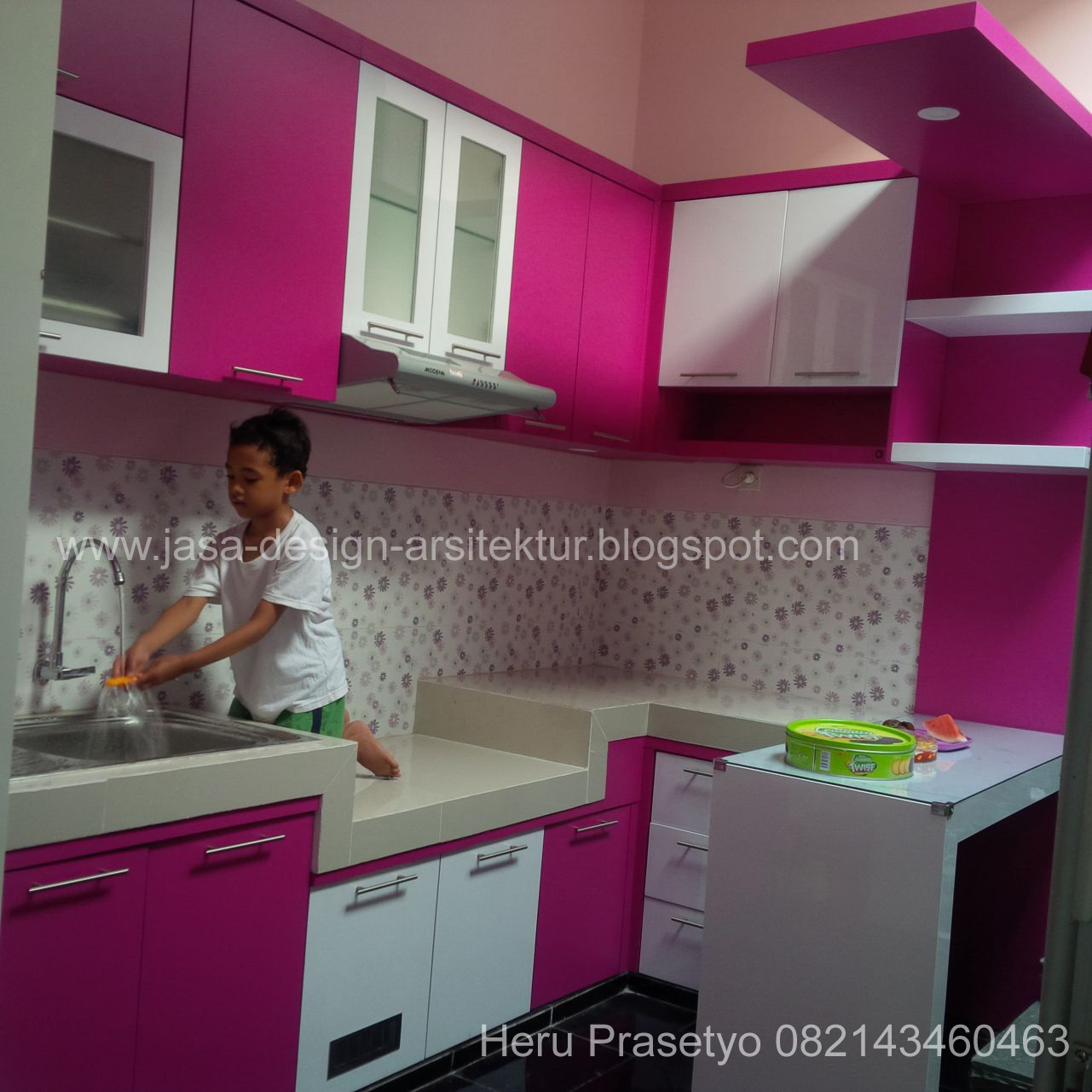 Kitchen Set Warna Coklat: Kontraktor Interior Surabaya Sidoarjo