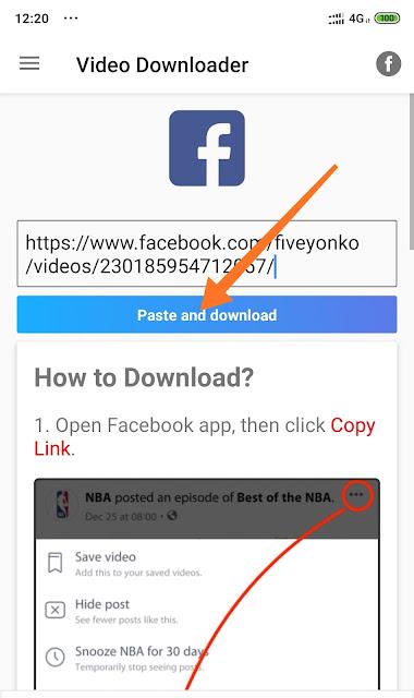Cara Nak Download Video Facebook Mudah