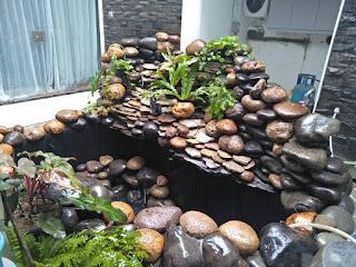 Kolam ikan - garden style