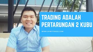 trading adalah pertarungan kubu buyer dan seller. pembeli penjual. follow counter trend
