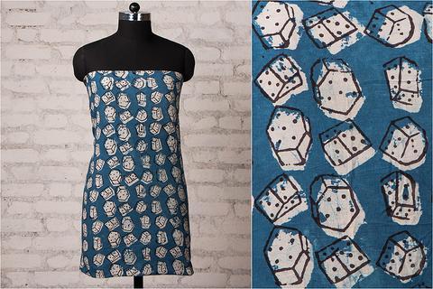Kalamkari Hand Block Printed Cotton Fabric