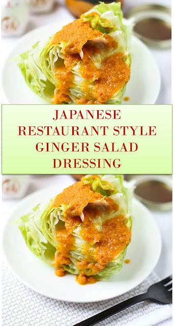 JAPANESE RESTAURANT STYLE GINGER SALAD DRESSING #JAPANESE #RESTAURANT #STYLE #GINGER #SALAD #DRESSING #JAPANESERESTAURANTSTYLEGINGERSALADDRESSING