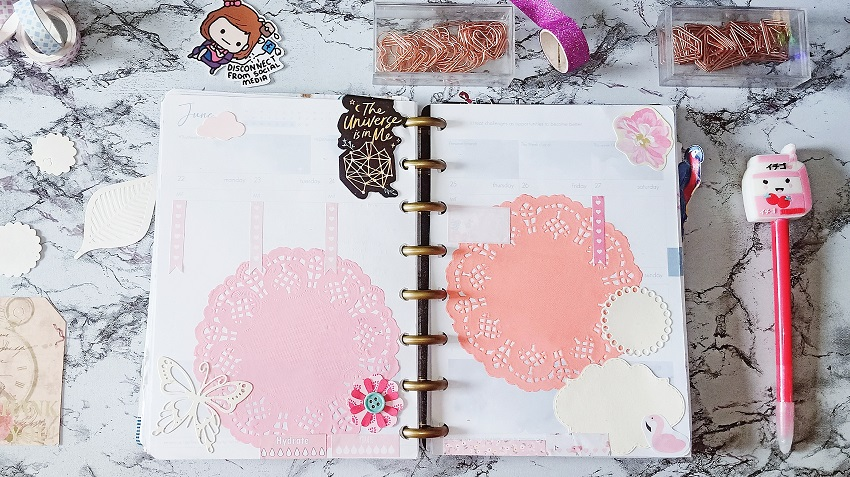"June 2020: Purely Pastel Weekly Planner Spreads. ft. ""The Universe is in Me"" Belle De Jour Power Planner - Prettiest in Pink - Article/Blog Post by Kathryn Grace of The Graceful Mist website (www.TheGracefulMist.com)"
