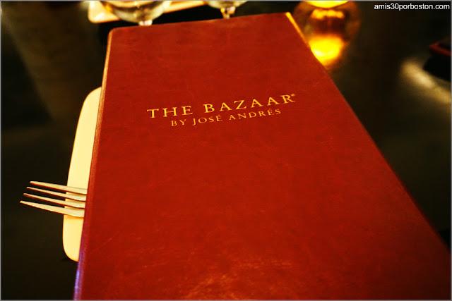 Carta de The Bazaar By José Andrés en Miami Beach