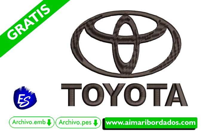 Logo Toyota Para Bordar