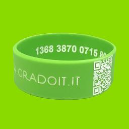 Bracciale QR Code +  numero univoco interno