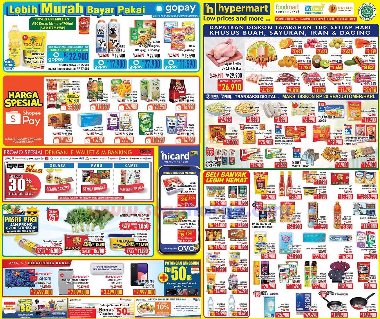 Katalog Promo Hypermart Weekday Terbaru 14 - 16 September 2021