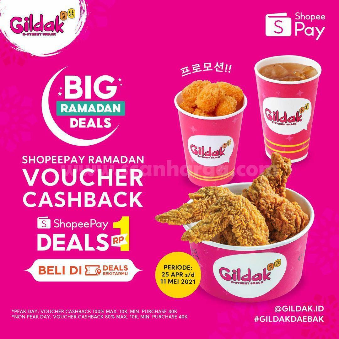 Gildak Promo ShopeePay Deals Voucher Cashback 60%