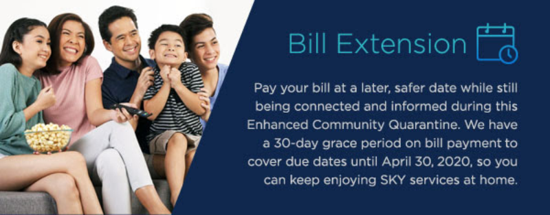 SKY subscribers get grace period on payment