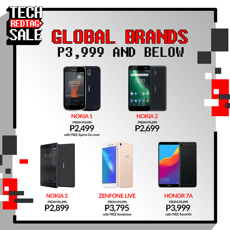 Smartphones PHP 3,999 and below