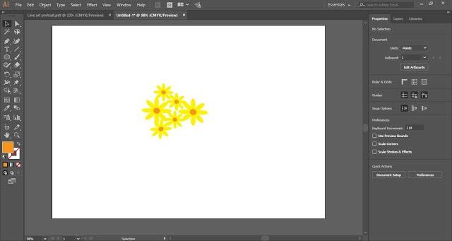 Scatter Brush in Adobe Illustrator