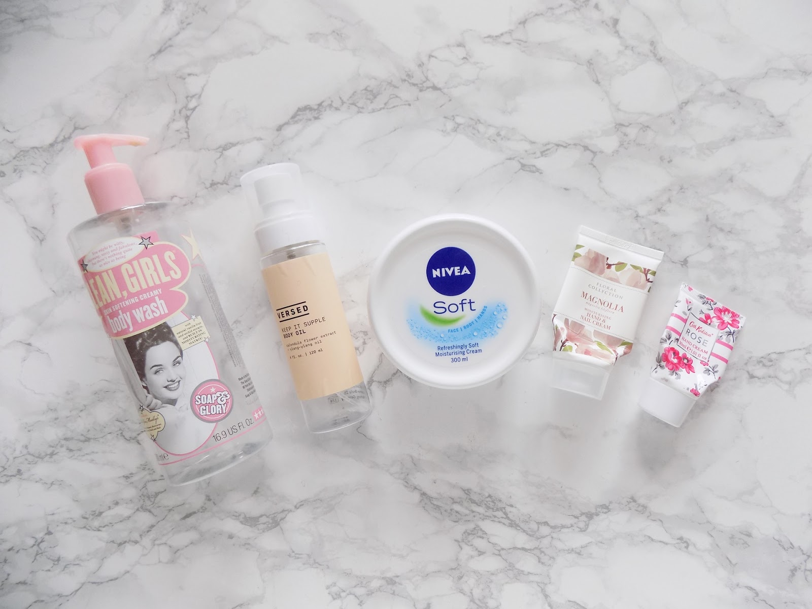 bodycare empties versed soap and glory