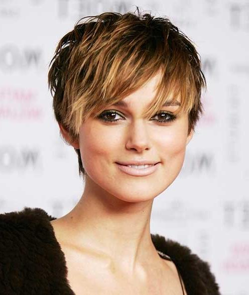Keira Knightley Short Choppy Pixie Hairstyle