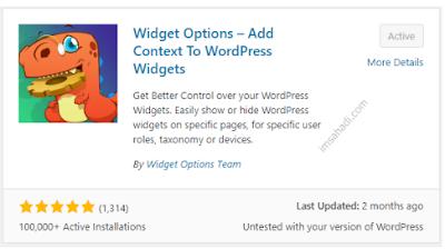 instal widget options