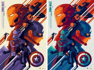 New York Comic Con 2017 Exclusive Captain America Civil War Screen Print by Tom Whalen x Grey Matter Art x Marvel