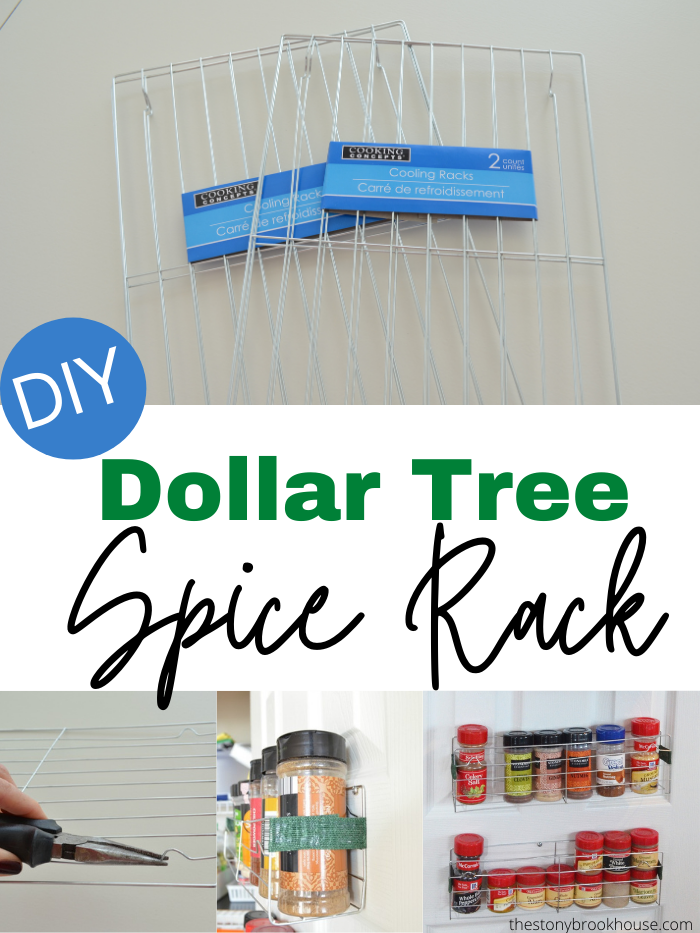 DIY Dollar Tree Spice Rack
