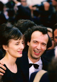 Roberto Benigni with his wife and co-star, Nicoletta Braschi