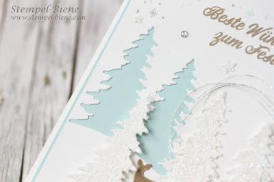 stampinup up Wie ein Weihnachtslied; Weihnachtskarte; Karte mit Strukturpaste; Weihnachtsworkshop; Kartenidee; Dekoidee Weihnahten; Stempel-biene; Stampinup Winterkatalog 2017