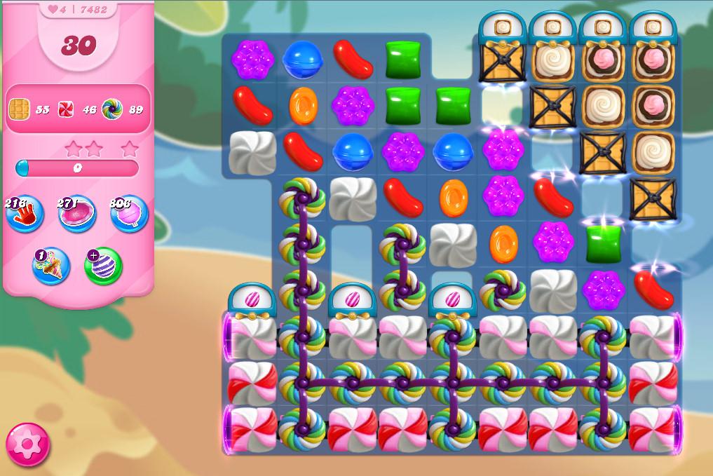 Candy Crush Saga level 7482