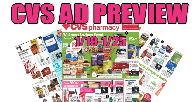 CVS Weekly Ad Preview 1-19-1-25