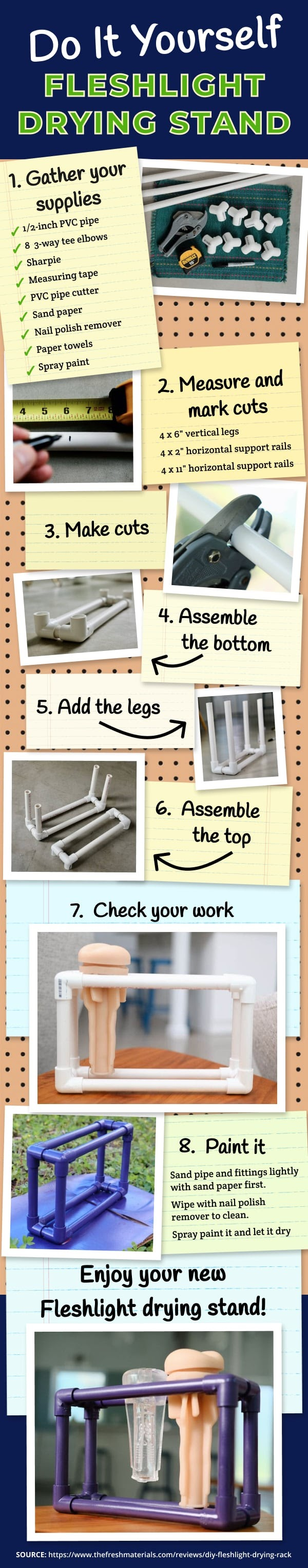 How To Make A DIY Fleshlight Drying Rack In 7 Easy Steps  #infographic