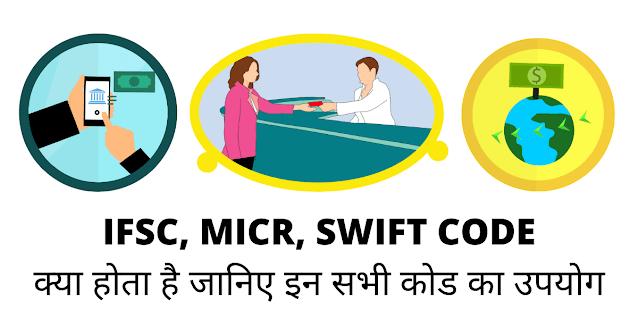 IFSC, MICR और SWIFT कोड क्या होता है?