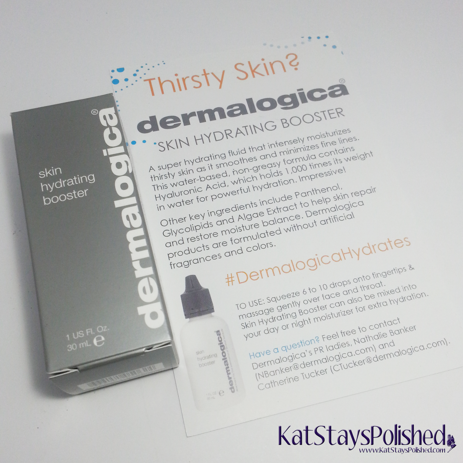 Dermalogica Skin Hydrating Booster | Kat Stays Polished