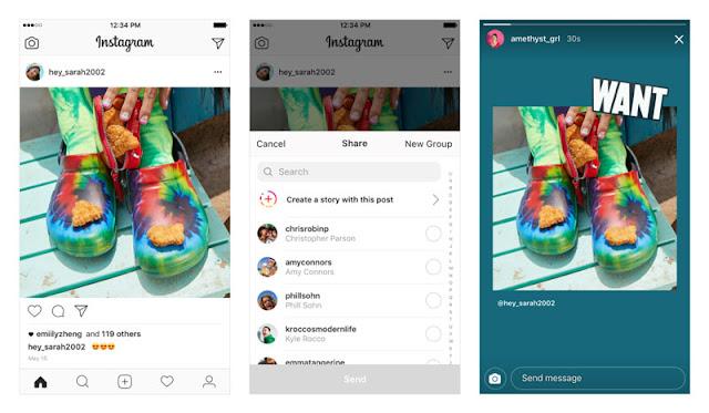 Cara Repost Postingan Instagram Menjadi Stories