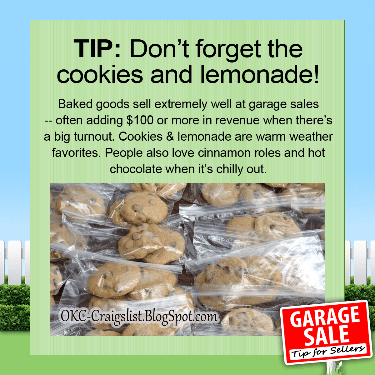 GARAGE SALE TIPS & IDEAS - Lemonade Stand
