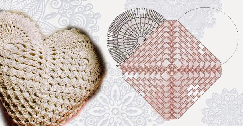 Amato Relasé: Cuscino all'uncinetto a forma di cuore - schema IG11