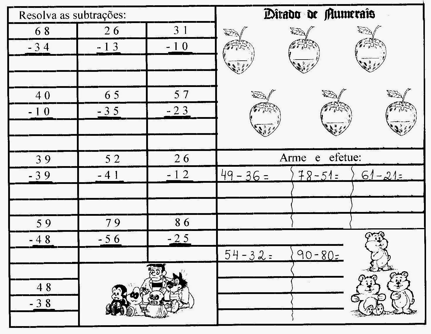 Matemática 2 Ano Fundamental Exercícios Atividades Para Imprimir V
