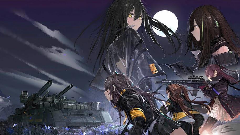 Anime, Girls Frontline, M4A1, UMP45, UMP9, Ar-15, 4K, #6.1093