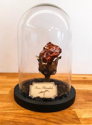 Pierre philosophale réalisée en suivant le tutoriel afin de servir de décoration lors de l'anniversaire Harry Potter