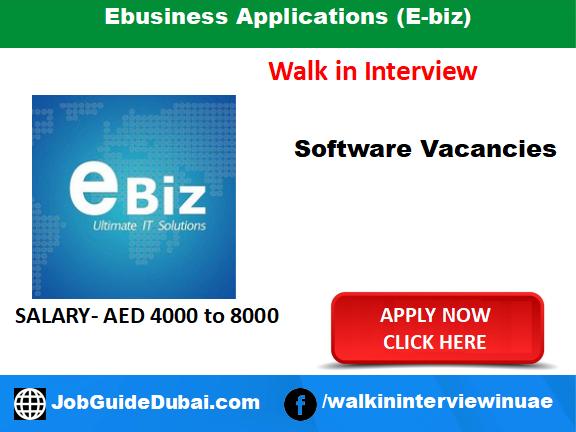 Ebusiness Applications (E-biz) career for software engineer job in Dubai