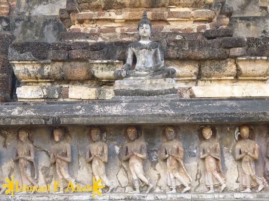 Bas relief in Sukhothai Historical Park