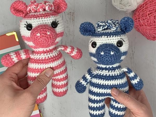 Crochet Zebra Pattern - A Free Crochet-A-Long